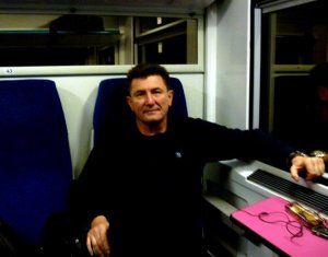 Warren Rodwell on Train